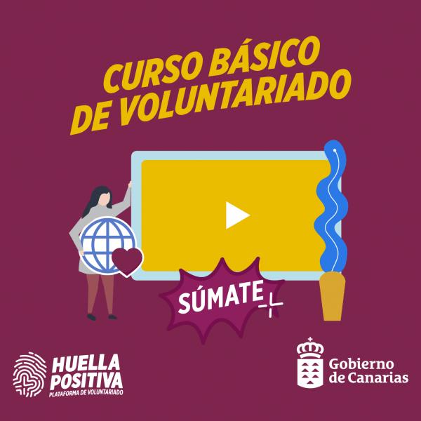 Cartel Curso básico de voluntariado
